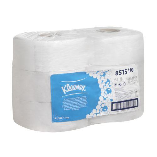 Kleenex Midi Jumbo Toilet Rolls 625 Sheet per roll 2-ply 400x94mm White Ref 8515 [Pack 6]
