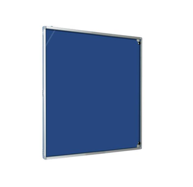 Glazed Magiboards Felt Nticbrd Lockable door Portrait  600x900mm