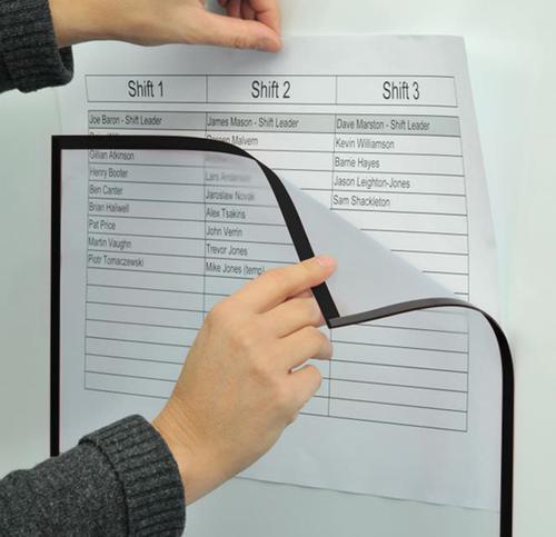 Magiboards Solo Magnetic Sign Holder A3 Black (Pack 6)