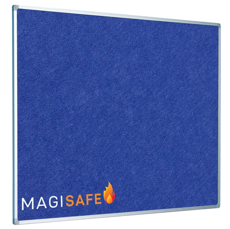 Magiboards Fire Retardant Blue Felt Noticeboard Aluminium Frame 2400x1200mm