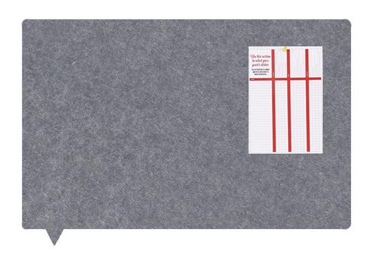 Felt MagiShape Speech bubble board 100x80cm Dark Grey