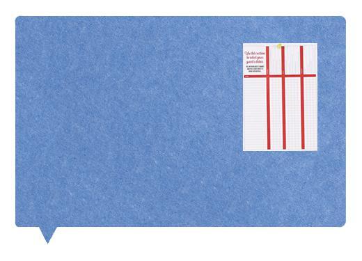 Felt MagiShape Speech bubble board 100x80cm Light Blue