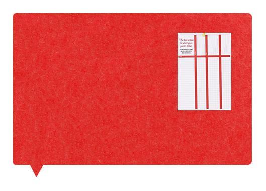 Felt MagiShape Speech bubble board 100x80cm Red