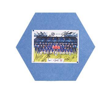 Felt MagiShape small Hexagon board 50x43cm Light Blue PK3