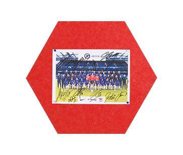 Felt MagiShape small Hexagon board 50x43cm Red PK3