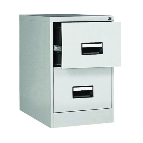 Contract 2 Drawer Filing Cabinet, 730H X 460W X 620D, Grey