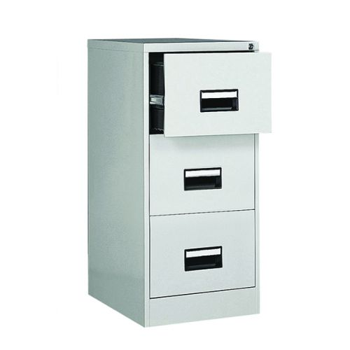 Contract 3 Drawer Filing Cabinet, 1024H X 460W X 620D, Grey
