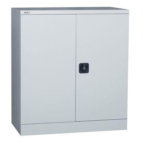 Double Door Cupboard 1 Shelf 1016H X 914W X 457D Grey