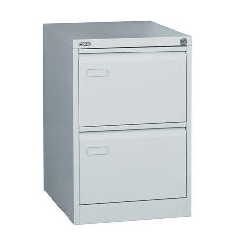 Mainline 2 Drawer Filing Cabinet, 705H X 460W X 620D, Grey
