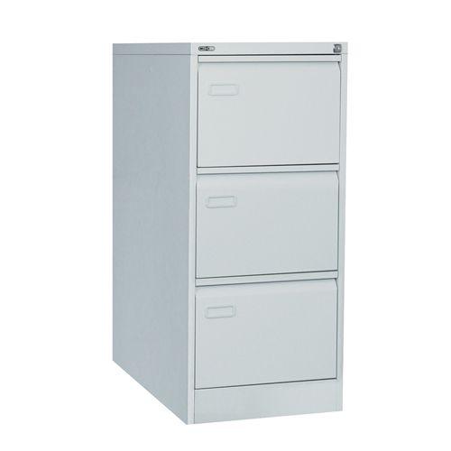 Mainline 3 Drawer Filing Cabinet, 1016H X 460W X 620D, Grey