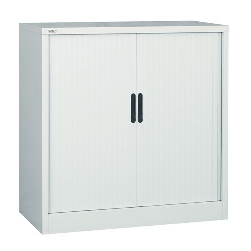 Side Opening Tambour Unit, 1016H X 1000W X 486D, Grey, Supplied Empty
