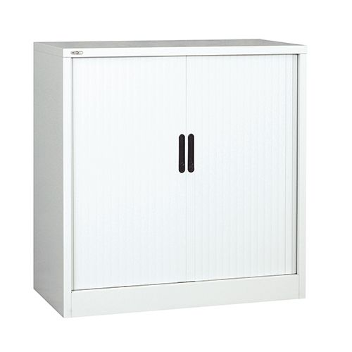 Side Opening Tambour Unit, 1016H X 1000W X 486D, White, Supplied Empty