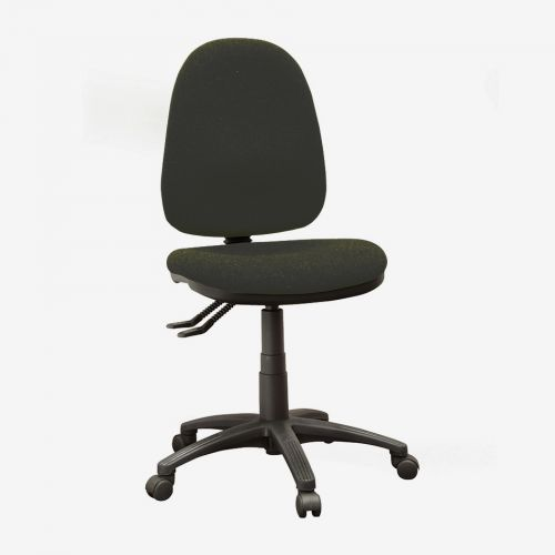 Operator High Back Chair With No Arms, Advantage Charcoal AD028 Fabric