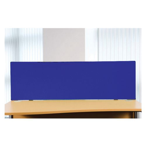 Desk Top Screen 1600W X 400H, Non-Linking, Graphite PVC Trim, Cara Walten EJ011 Fabric