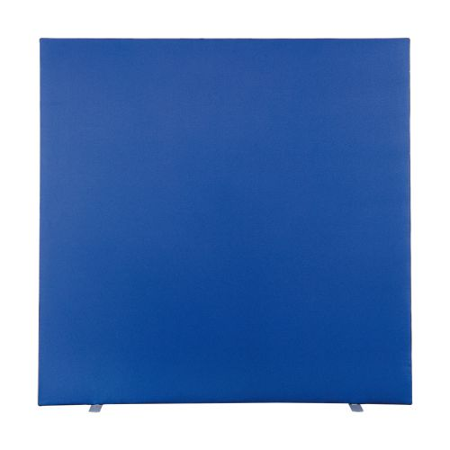 Free Standing Floor Screen 1600W X 1600H, Non-Linking, Graphite PVC Trim, Cara Walten EJ011 Fabric