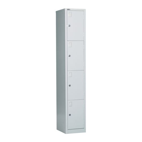 4 Door Locker, 1778H X 305W X 457D, Grey, Key Lock