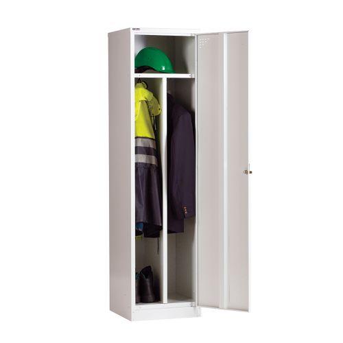 Clean And Dirty Single Door Locker, 1778H X 457W X 457D Grey, Key Lock