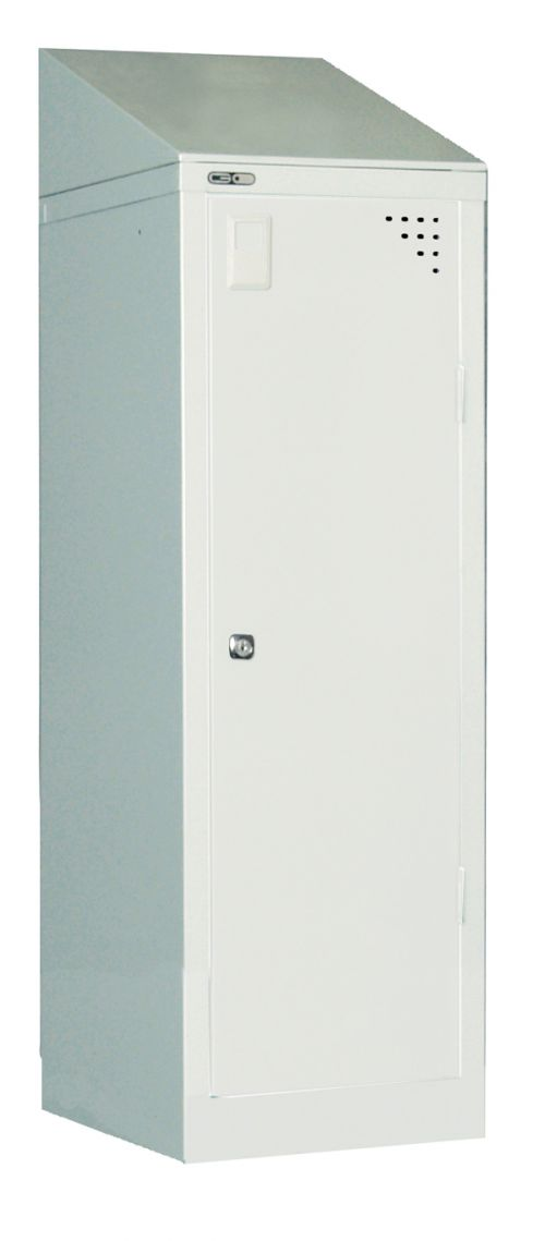 Single Sloping Top, For Use With 305W X 457D Locker, Grey