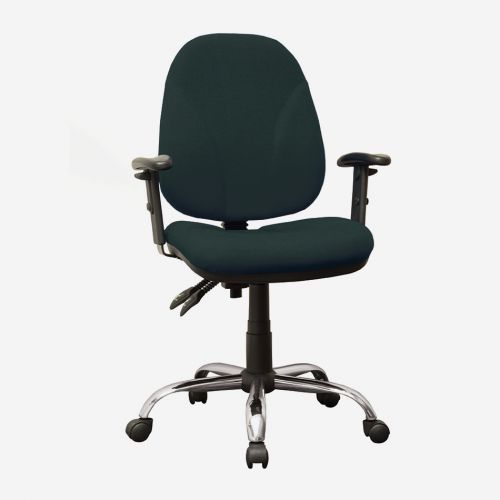 High Back Operators Chair With Height Adjustable Arms In Black