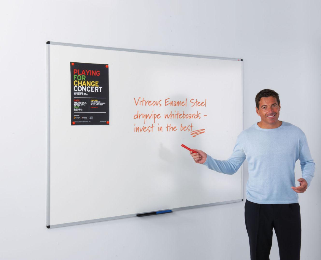 WriteOn Vitreous Enamel Steel Whiteboard - 1200 x 1800mm  - 25 Year Guarantee