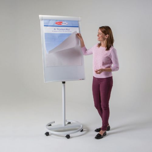 Ultimate Mobile Flipchart Easel - White