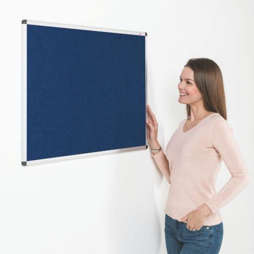 Metroplan Eco-Colour Resist-a-Flame Aluminium Framed Noticeboard 900x600mm Blue 22632/BL