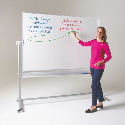WriteOn Revolving Whiteboard - 1200 x 1800mm (HxW) - Magnetic