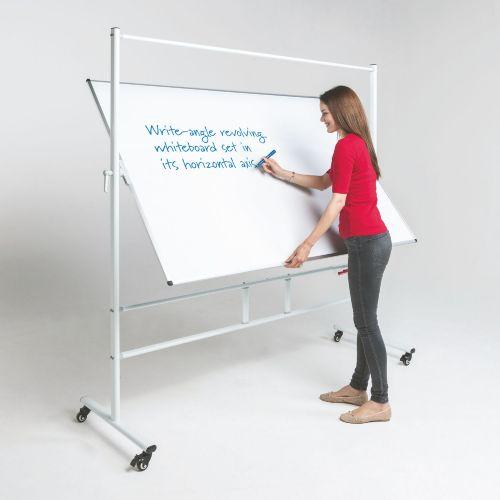 WriteAngle Revolving Whiteboard - 1200 x 1800mm (HxW) - Magnetic