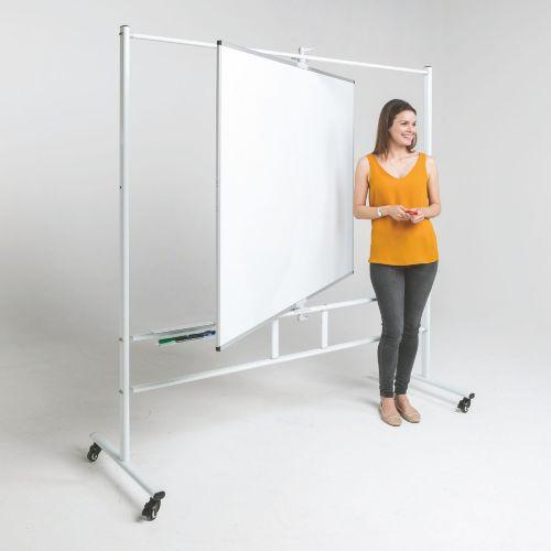 WriteAngle Revolving Whiteboard - 900 x 1200mm (HxW) - Magnetic