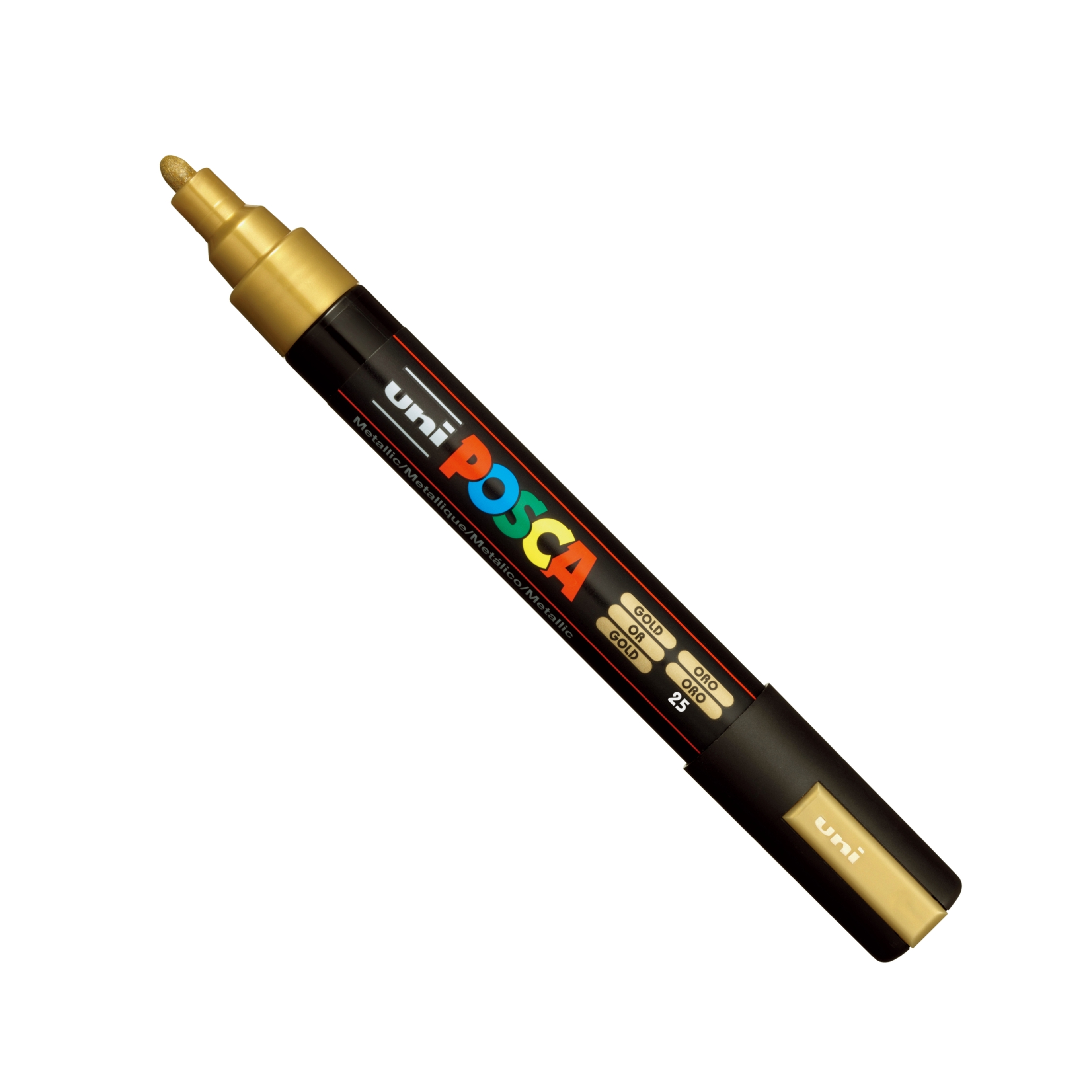 Posca PC-5M Marker Medium Gold Single Pe
