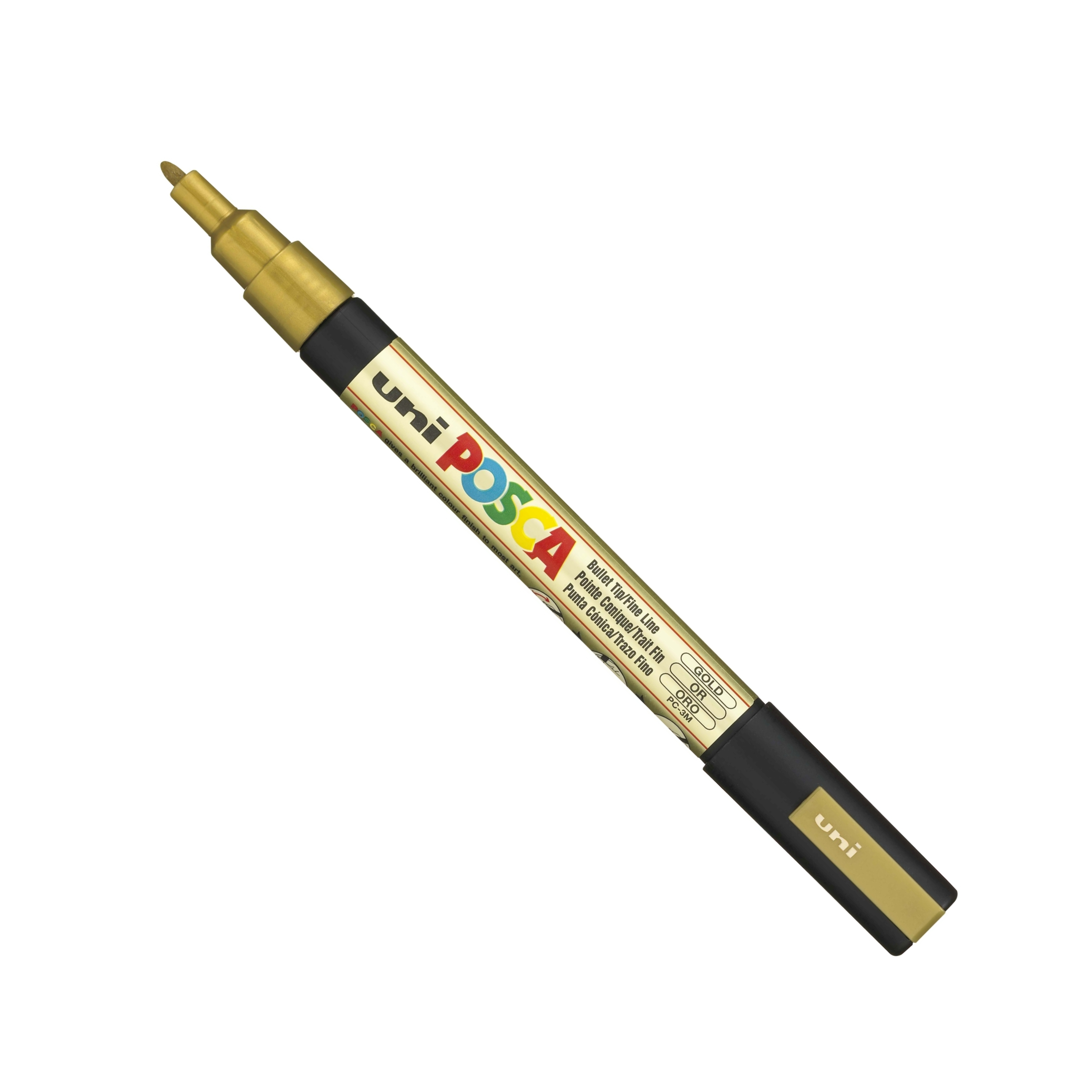 Posca PC-3M Marker Fine Gold Single Pen