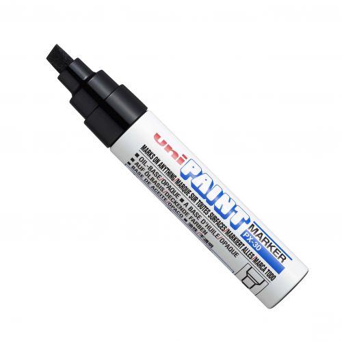 Uni Paint Marker PX-30 Broad Chisel Tip Black PK6