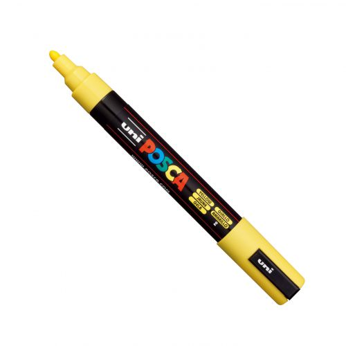 Posca PC-5M Marker Medium Yellow PK1