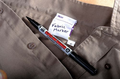 Uni Super Ink Marker 0.9mm Line Width Black Ref 036905000 [Pack 12]