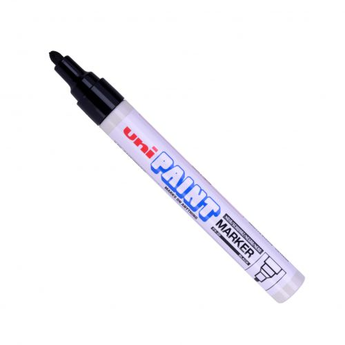Uni Paint Marker Medium Bullet Tip Black PK12