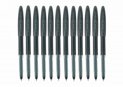 Uni-ball UM170 SigNo Gelstick Rollerball Pen 0.7mm Tip 0.5mm Line Black Ref 735282000 [Pack 12]