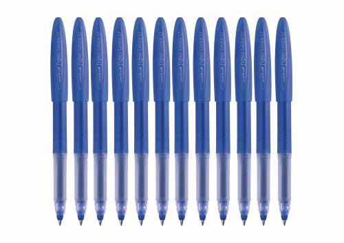 Uni-ball UM170 SigNo Gelstick Rollerball Pen 0.7mm Tip 0.5mm Line Blue Ref 735290000 [Pack 12]