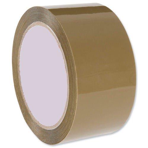 Value Low Noise Polypropylene Packaging Tape 50mm x66m Buff
