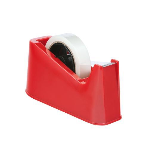Value Desk Tape Dispenser Large Red