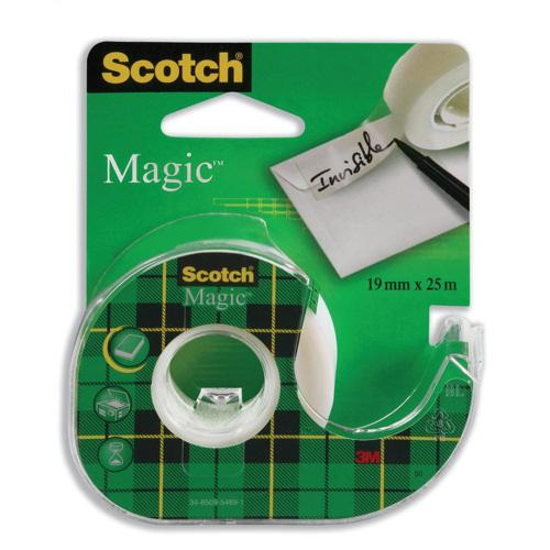 3M Scotch Magic Tape 19mm x25m Dispenser Roll 8-1925D