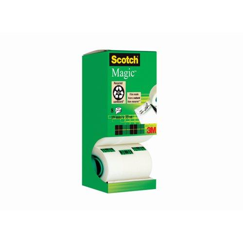 3M Scotch Magic Tape 19mm x33m Value Pack (8) 81933R8