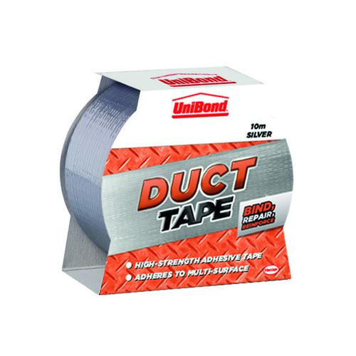 UniBond Duct Tape 50mm x10m Silver 1667265