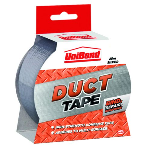 UniBond Duct Tape 50mm x25m Silver 1667753