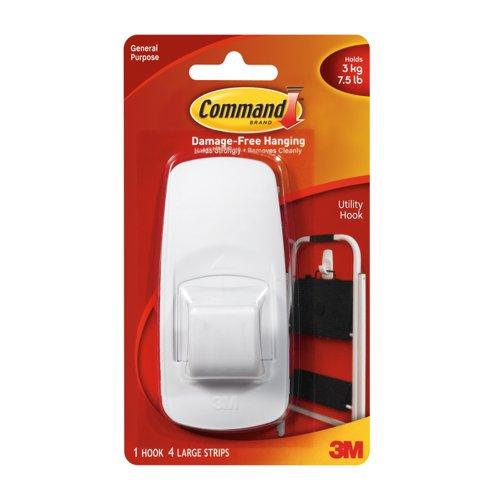 3M Command Adhesive Jumbo Hook 17004