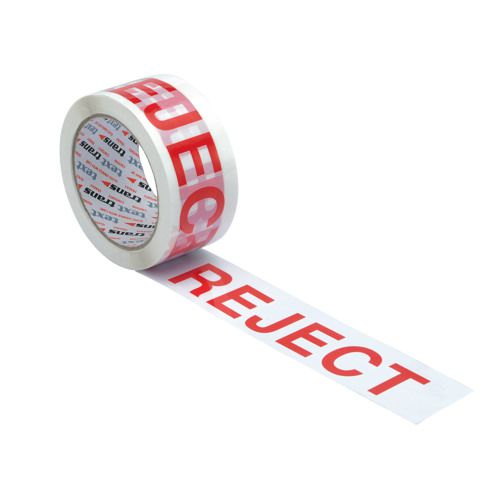 Printed Tape Reject 48mm x66m White/Red