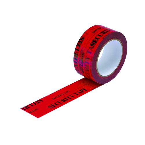Tamper Evident Security Tape Red 48mm x66m