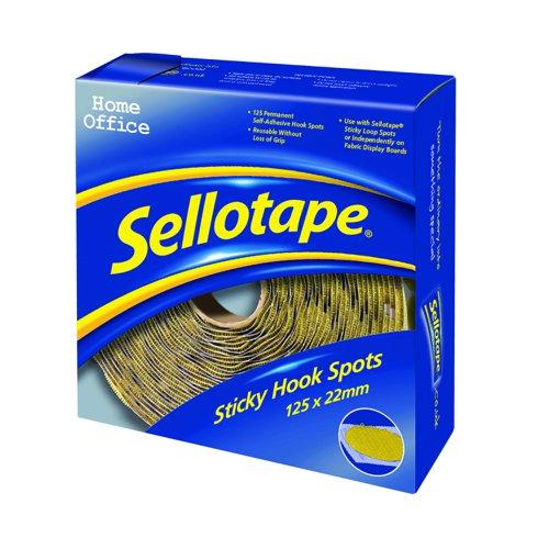 Sellotape Sticky Hook Spot 22mm (125) 1445185