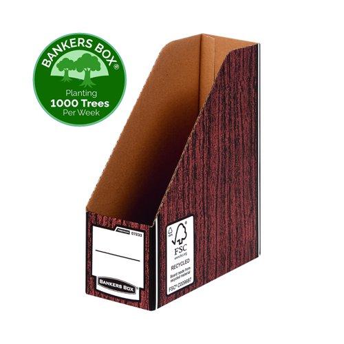 Fellowes Bankers Box Premium Magazine File A4 Woodgrain 07223-FFSP2
