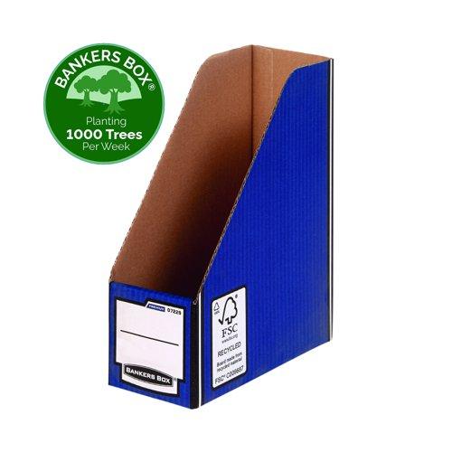 Fellowes Bankers Box Premium Magazine File A4 Blue/White 07229-FFSP2