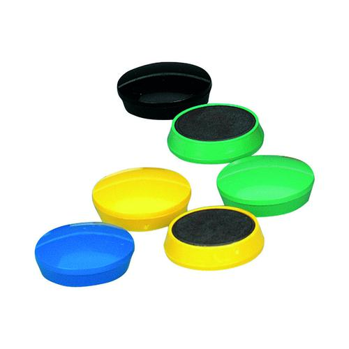 Value Magnets 32mm Assorted Colours (10)